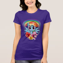 Rainbow Dash | Floral Watercolor Rainbow T-Shirt