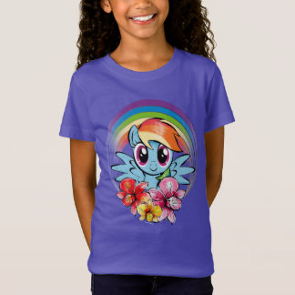 Rainbow Dash | Floral Watercolor Rainbow T-Shirt