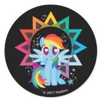 Rainbow Dash | Rainbow Powered Classic Round Sticker