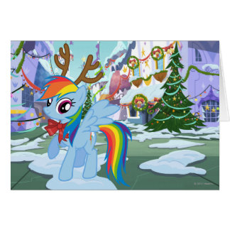 Rainbow Dash Reindeer Card