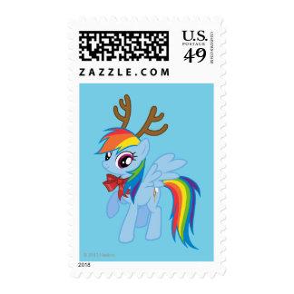Rainbow Dash Reindeer Postage