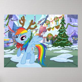 Rainbow Dash Reindeer Posters