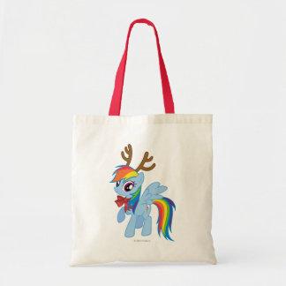 Rainbow Dash Reindeer Tote Bag