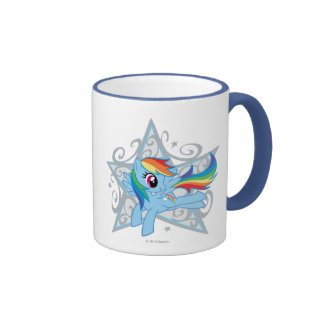 Rainbow Dash Star Coffee Mug