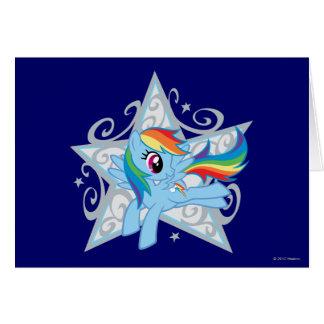 Rainbow Dash Star Greeting Card