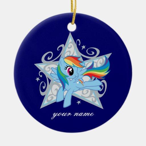 Rainbow Dash Star Christmas Ornaments