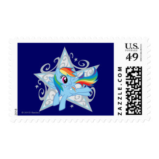 Rainbow Dash Star Postage