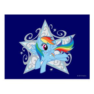 Rainbow Dash Star Postcard