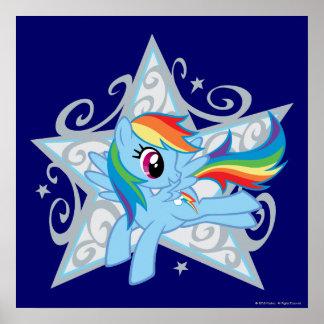 Rainbow Dash Star Poster