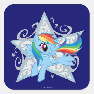 Rainbow Dash Star Square Sticker