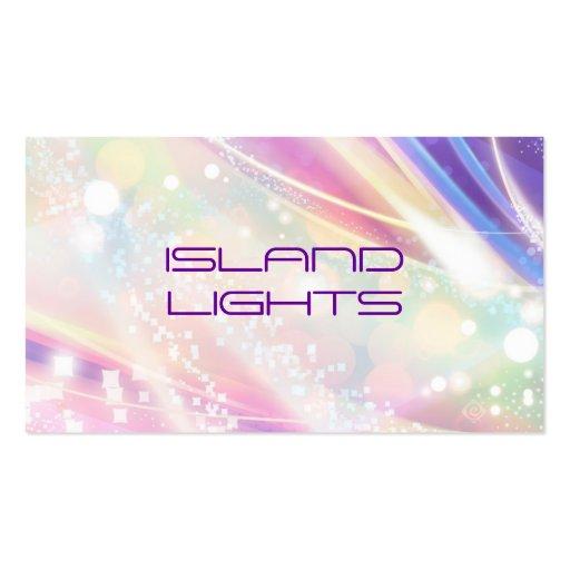 rainbow dazzle business card templates