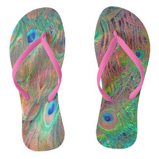 Rainbow Deco Flip Flops