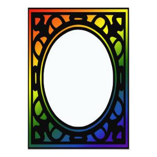 Rainbow Decorative Border Invitation