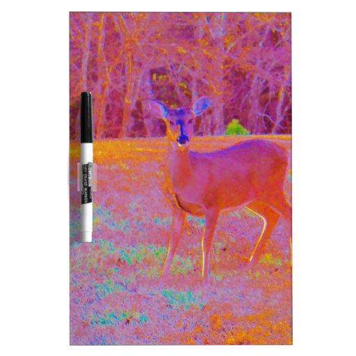 Rainbow Deer in a Field Dry-Erase Board