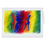 Rainbow Degas Greeting Card