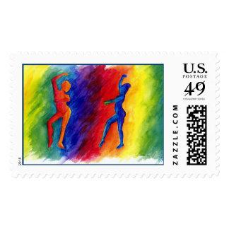 Rainbow Degas Stamp