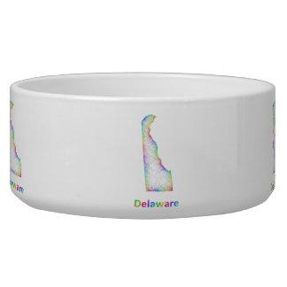 Rainbow Delaware map Bowl