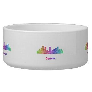 Rainbow Denver skyline Bowl