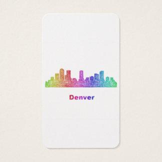Rainbow Denver skyline Business Card