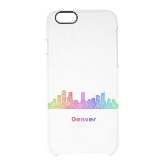 Rainbow Denver skyline Clear iPhone 6/6S Case