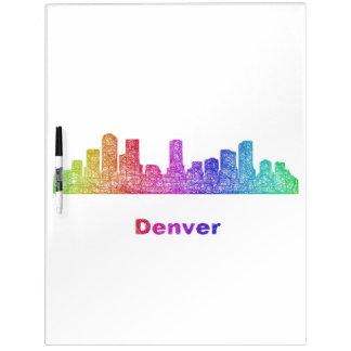 Rainbow Denver skyline Dry Erase Board