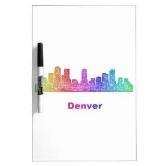 Rainbow Denver skyline Dry-Erase Board