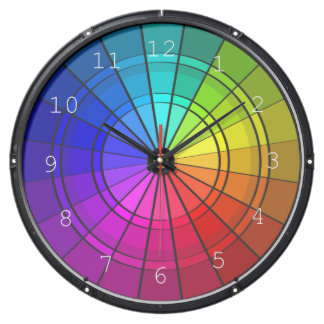 Rainbow Design Aqua Clock