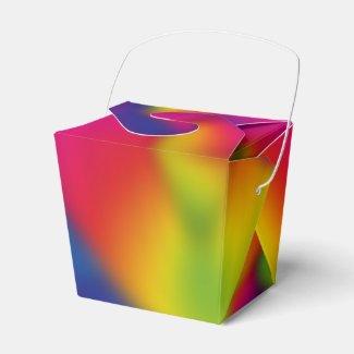 Rainbow Design Favor Boxes