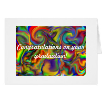 rainbow design graduations card hand illuatrated