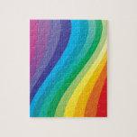 "Rainbow design jigsaw puzzle<br><div class=""desc"">A fun rainbow of colours</div>"