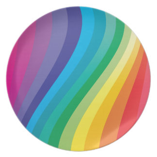 Rainbow design melamine plate