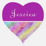 Rainbow Design Monogram Letter J Sticker