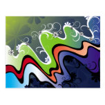 rainbow design postcard