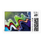 rainbow design stamps