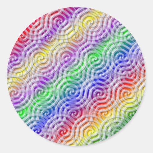 Rainbow Design Sticker