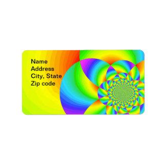 Rainbow designed label