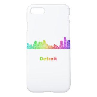 Rainbow Detroit skyline iPhone 7 Case
