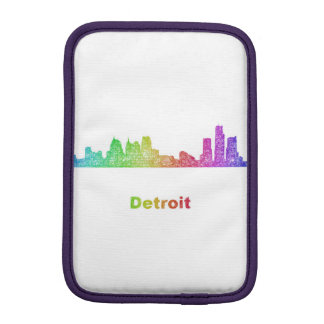 Rainbow Detroit skyline Sleeve For iPad Mini
