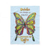 Rainbow Diabetes My Life Butterfly Blanket