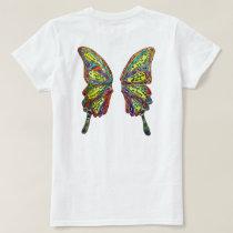 Rainbow Diabetes My Life My Choice Butterfly Shirt