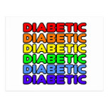 Rainbow Diabetic Postcard