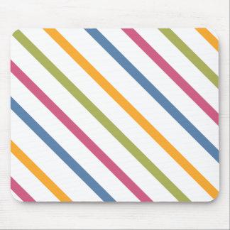 rainbow diagonal stripes mouse pad