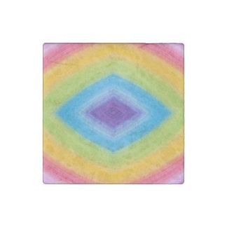 Rainbow Diamond Abstract Stone Magnet