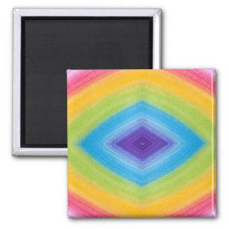 Rainbow Diamond Abstract Refrigerator Magnets