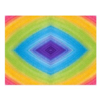 Rainbow Diamond Abstract Postcard