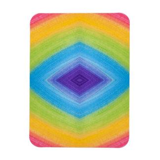 Rainbow Diamond Abstract Vinyl Magnet