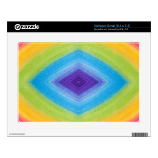 Rainbow Diamond Abstract Decals For Netbooks