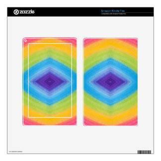 Rainbow Diamond Abstract Decal For Kindle Fire