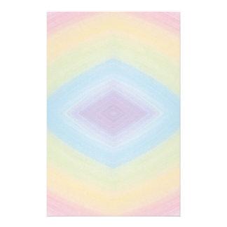 Rainbow Diamond Abstract Stationery