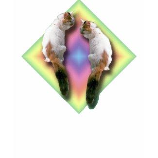 Rainbow diamond and Cats shirt